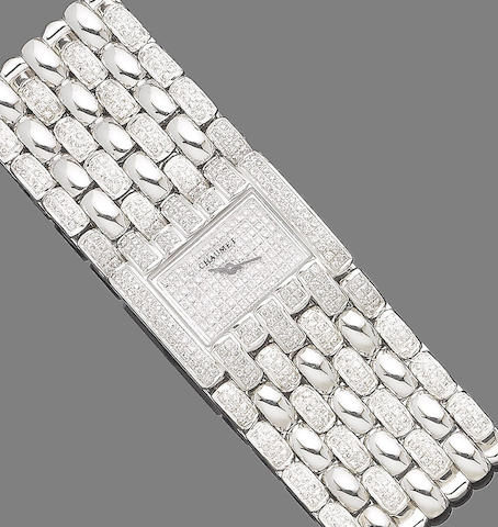 A diamond wristwatch, by Chaumet