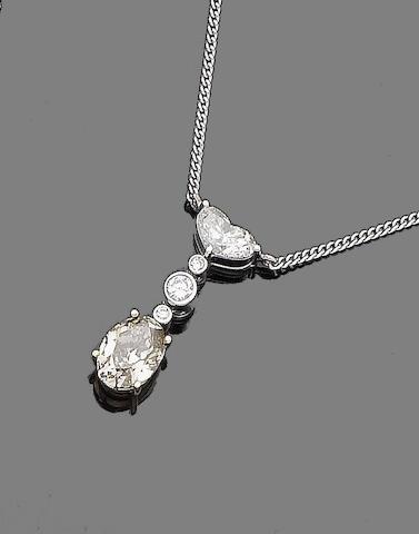 A diamond pendant