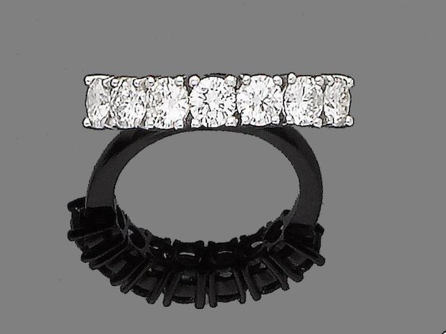 A seven-stone diamond ring