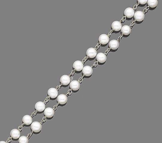 A cultured pearl longchain