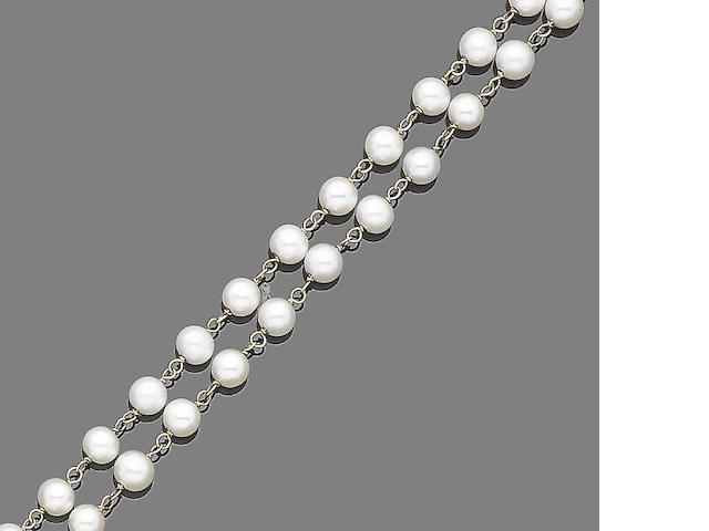 A cultured pearl longchain