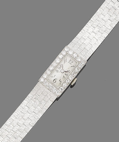 A diamond-set cocktail watch