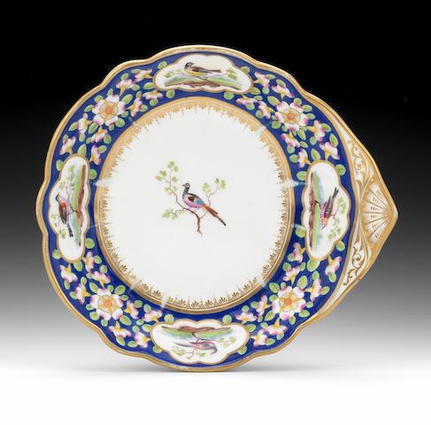 A rare Nantgarw dish, circa 1818-20