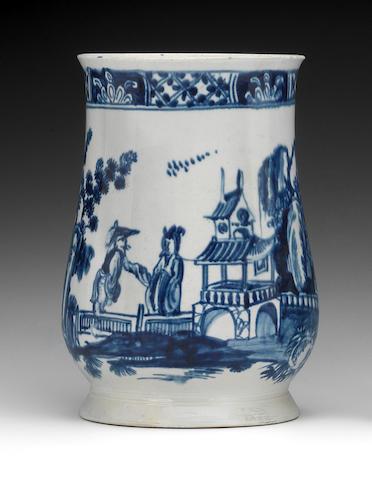 A large Vauxhall mug, circa 1757-60