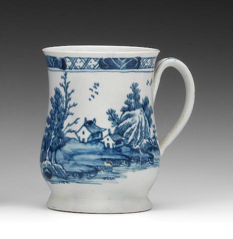 A Vauxhall mug, circa 1757-60
