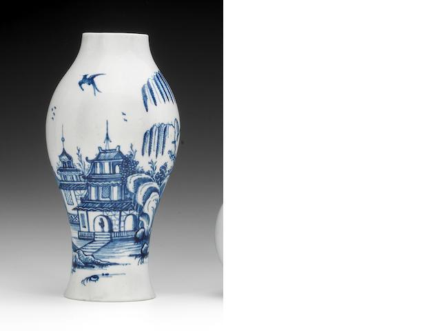 A Liverpool (Shaw's Brow) vase, circa 1760-70