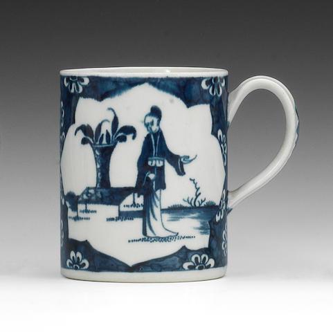 A Worcester small mug, circa 1770
