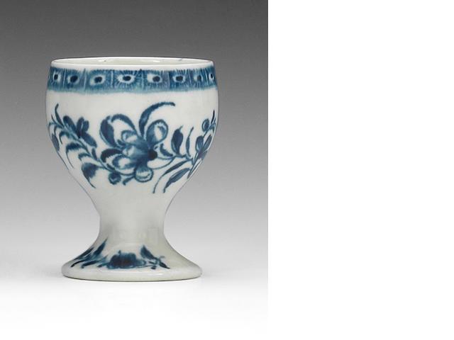 A Worcester egg cup, circa 1770