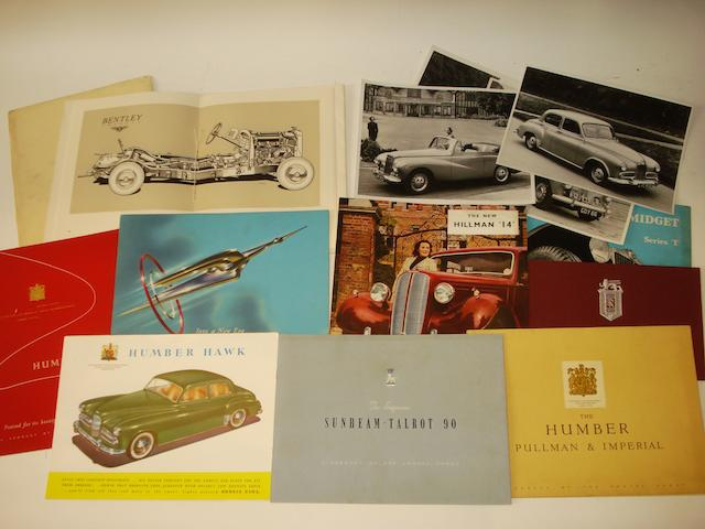 A full sales brochure for the 'Bentley Silent Sports Car',