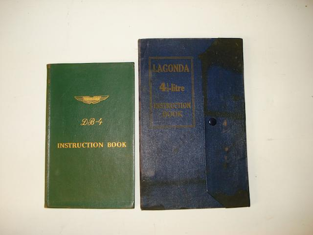 Aston Martin and Lagonda Instruction books,
