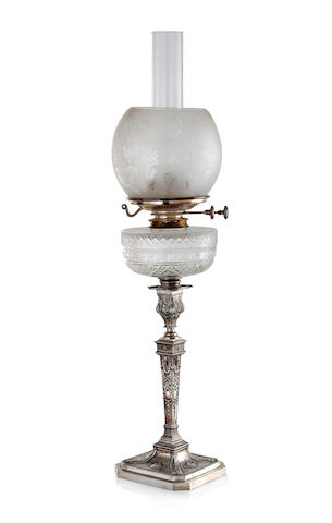 An Edward VII silver mounted spirit lamp, by Richard Martin and Ebenezer Hall, Sheffield 1909