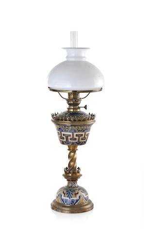 A Victorian Doulton stoneware spirit lamp