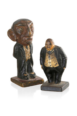 An Australian cast iron door stop figure of William Morris (Billy) Hughes (1862-1952)