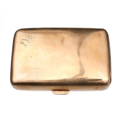 An Australian gold cigar case by Duggin Shappene & Co, Howey Place, Melbourne, circa 1900