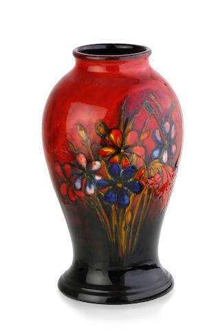 "A Walter Moorcroft baluster ""Spring Flowers"" pattern vase, circa 1950"