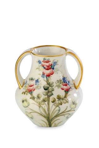 A William Moorcroft Macintyre two handled vase, circa 1905