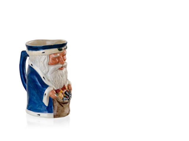 A Melrose Ware Pottery 'Father Christmas' Toby Dog