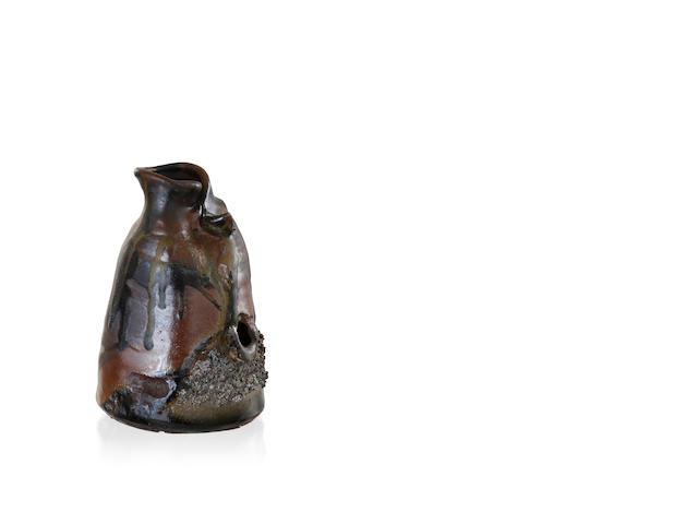 A stoneware vase by Milton Moon (b. 1926)