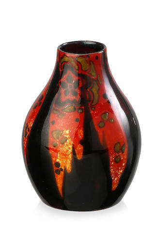 A Royal Doulton 'Sung' Flambé ovoid vase, designed by Fred Allen, circa 1925