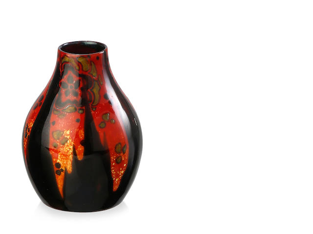 A Royal Doulton 'Sung' Flambe ovoid vase, circa 1925