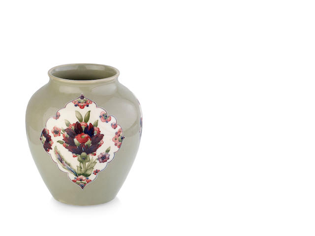 "A William Moorcroft ovoid ""Persian"" pattern vase, circa 1915"