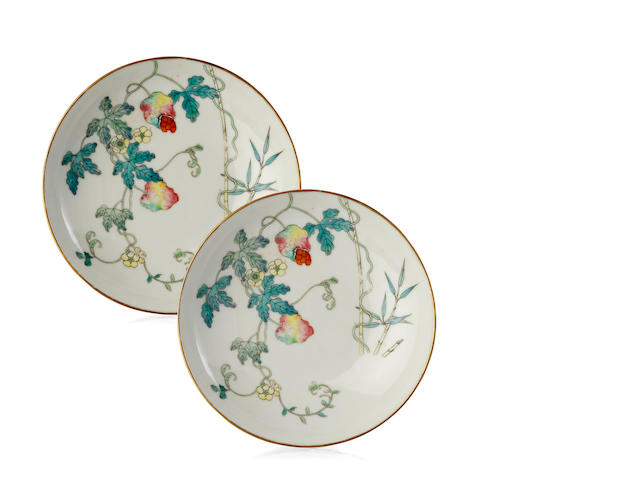 A Pair of Chinese Saucer Dishes