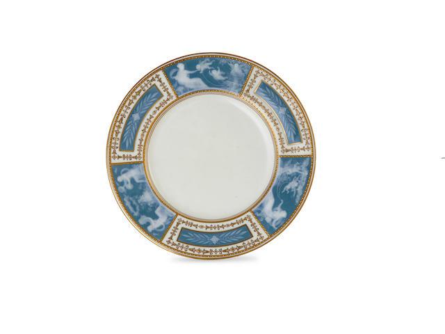 A Minton's porcelain Pateson Pate plate, circa 1910