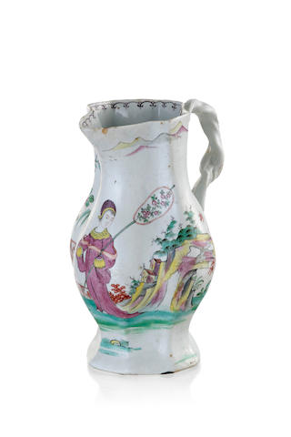A Longton Hall porcelain jug, circa 1758