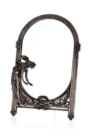 An Art Nouveau WMF (Wurttembergische Metallwarenfabrik) strut mirror