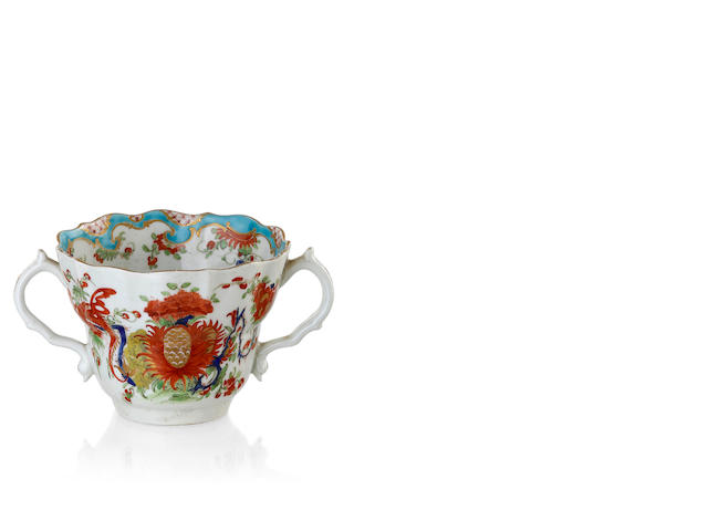 A Worcester two handled loving cup, circa 1768