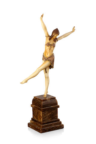 """Dancer of Palmyra"" An Art Deco bronze and ivory figure cast and carved from a model Demetre Chiparus, circa 1925"
