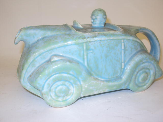 An Art Deco Sadler car teapot