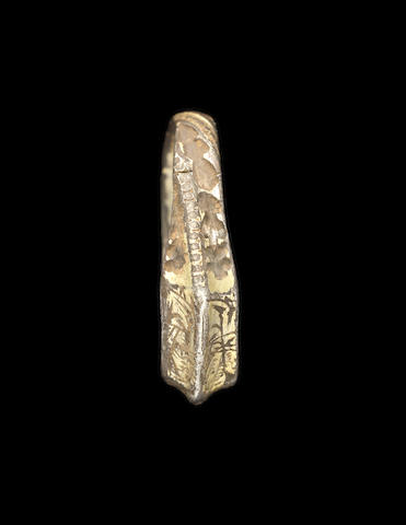 A Post Medieval silver gilt iconographic ring