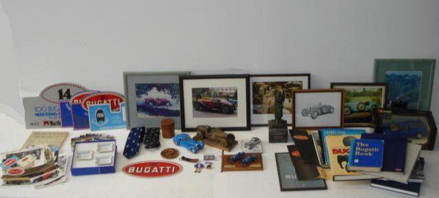 Assorted Bugatti memorabilia,
