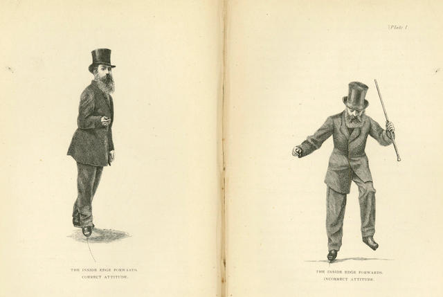 FIGURE SKATING VANDERVELL (H.E.) and T. MAXWELL WITHAM  A System of Figure Skating, 1873