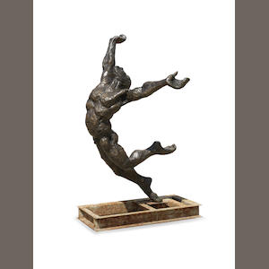 Stella Shawzin (South African, born 1923) Athlete III, bronze