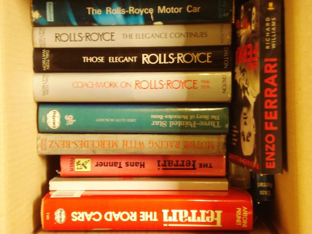 Books relating to Rolls-Royce and other marques,