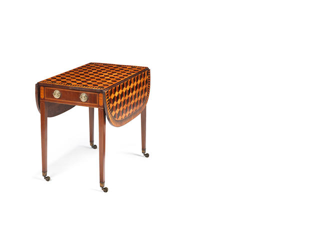A George III parquetry Pembroke table