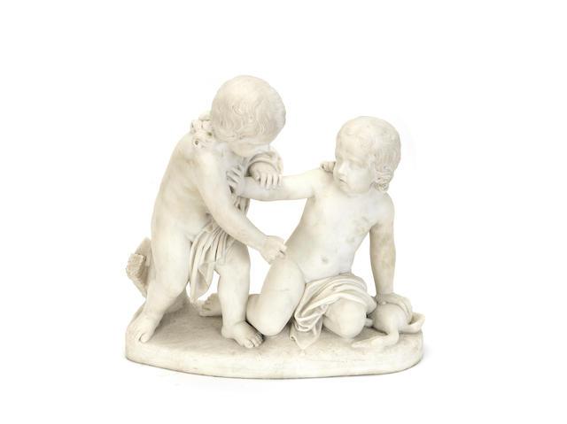 An Italian marble figure groupfirst half 19th century