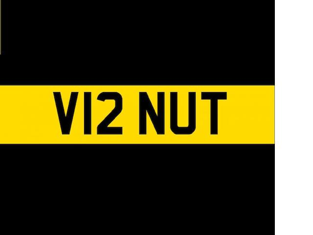 Registration number 'V12 NUT',