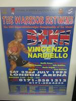 A collection of boxing programs, tickets and posters