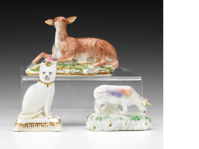 Three Rockingham model of animals, circa 1830-42
