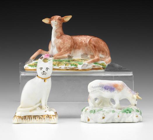 Three Rockingham model of animals, circa 1830-42