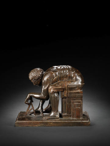 Sir Eduardo Paolozzi (British, 1924-2005) Master of the Universe 32.3 cm. (12 3/4 in.) including base (3.1 cm base)