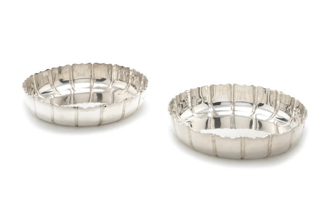 A pair of Victorian   silver strawberry dishes by Walter & John Barnard, London 1894  (2)
