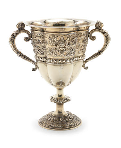 A Victorian silver-gilt two-handled cup by Steven Smith, London 1867