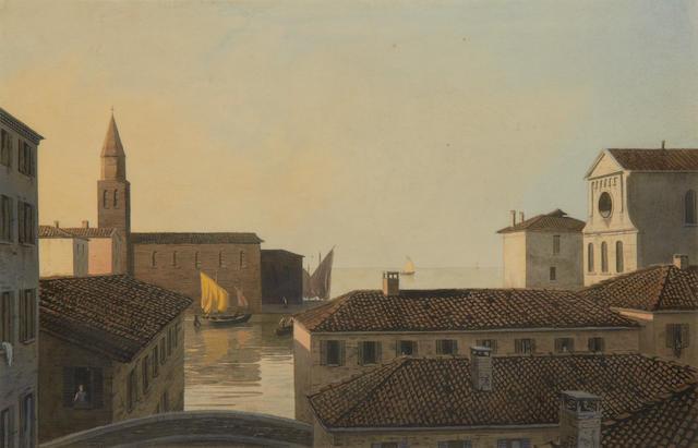 Algernon Cecil Newton (British, 1880-1968) Venetian rooftops