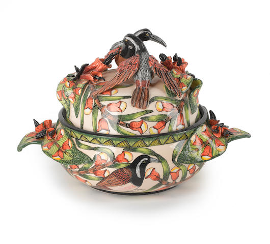 Ardmore Ceramics (20th/21st Century) Bird tureen made by Sondy, painted by Punch and dated 2010