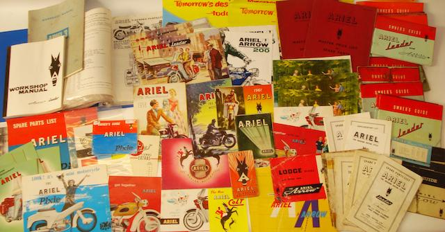 A quantity of post-War Ariel sales and technical literature,