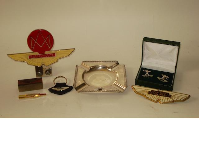 Assorted David Brown Aston Martin items,